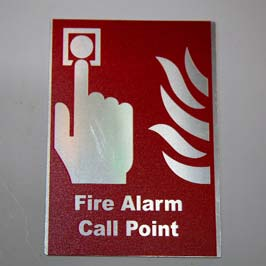 Customized Metal Safety Sign Fire Alarm