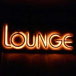 Orange Neon Signboard - Lounge