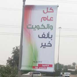Flex Light Post Banner