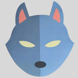 Printed & Die-Cut Paper Mask - Fox