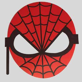 Printed & Die-Cut Paper Mask -Spiderman