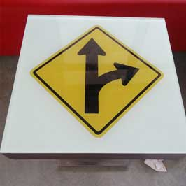 Traffic Sign -  Right Turn Split Sign