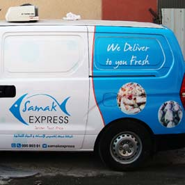 Customized Vehicle Wrap van Graphics Samak Express