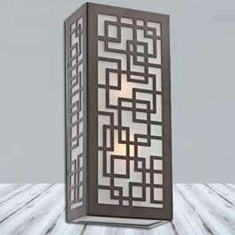 Carved Wooden Lamp - Oriental