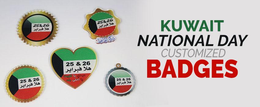 Kuwait National Day Customized Badges