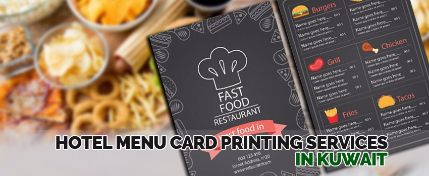 Restaurant Menu Cards Printing Services In Kuwait