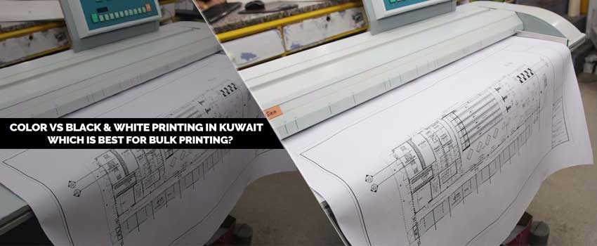 Color Vs Black & White Printing in Kuwait