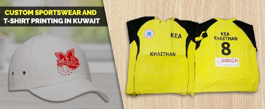 Custom Sportswear and T shirt Printing in Kuwait