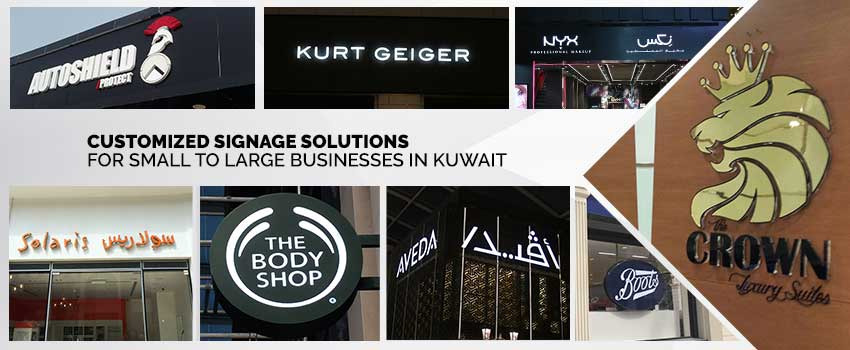 Customized Signage Solutions for Small to Large Businesses in Kuwait