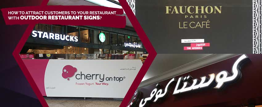 Outdoor Restaurant Signs in Kuwait