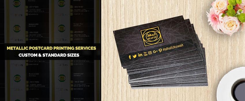 Metallic Postcard Printing Services kuwait