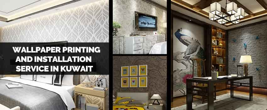 Wallpaper printing and installation service