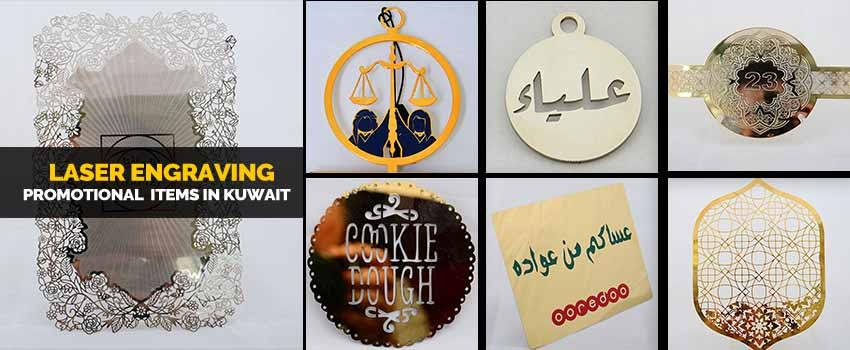 Laser engraving promotional items in Kuwait