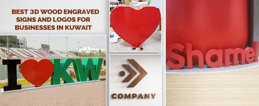 3D Wood Engraved Signs and Logos for Businesses