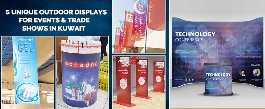 Unique Outdoor Displays for Events & Trade Shows