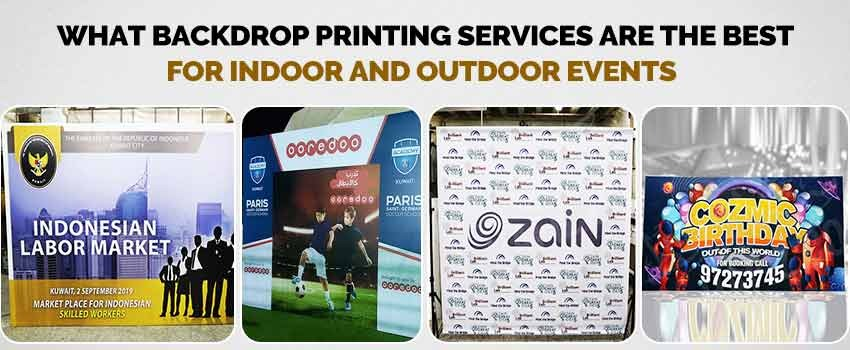 Backdrop Printing Services are the Best for Indoor and Outdoor