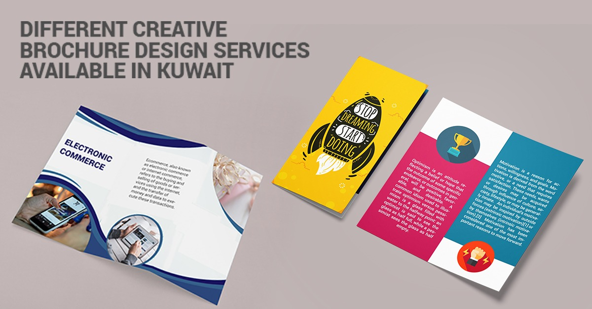 Different Creative Brochure Design Services Available