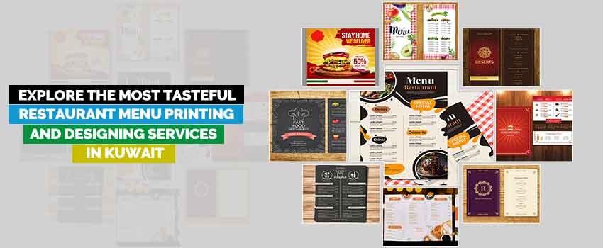 Tasteful Restaurant Menu Printing and Designing Services
