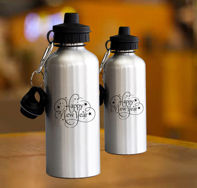 New Year Water Bottles