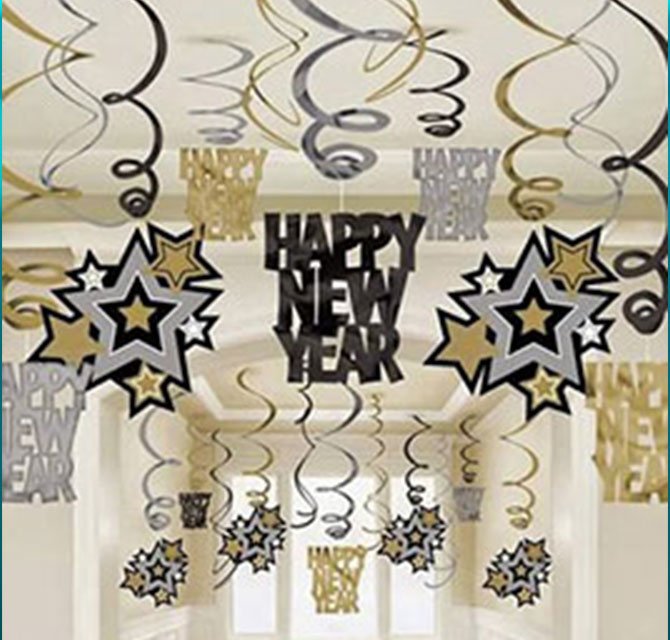 New Year Decorative Stickers