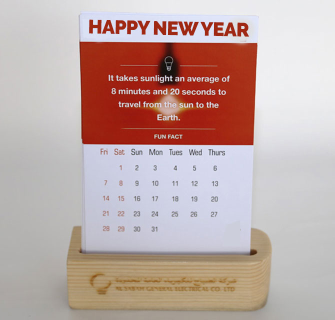 New Year 2020 Table Calanders
