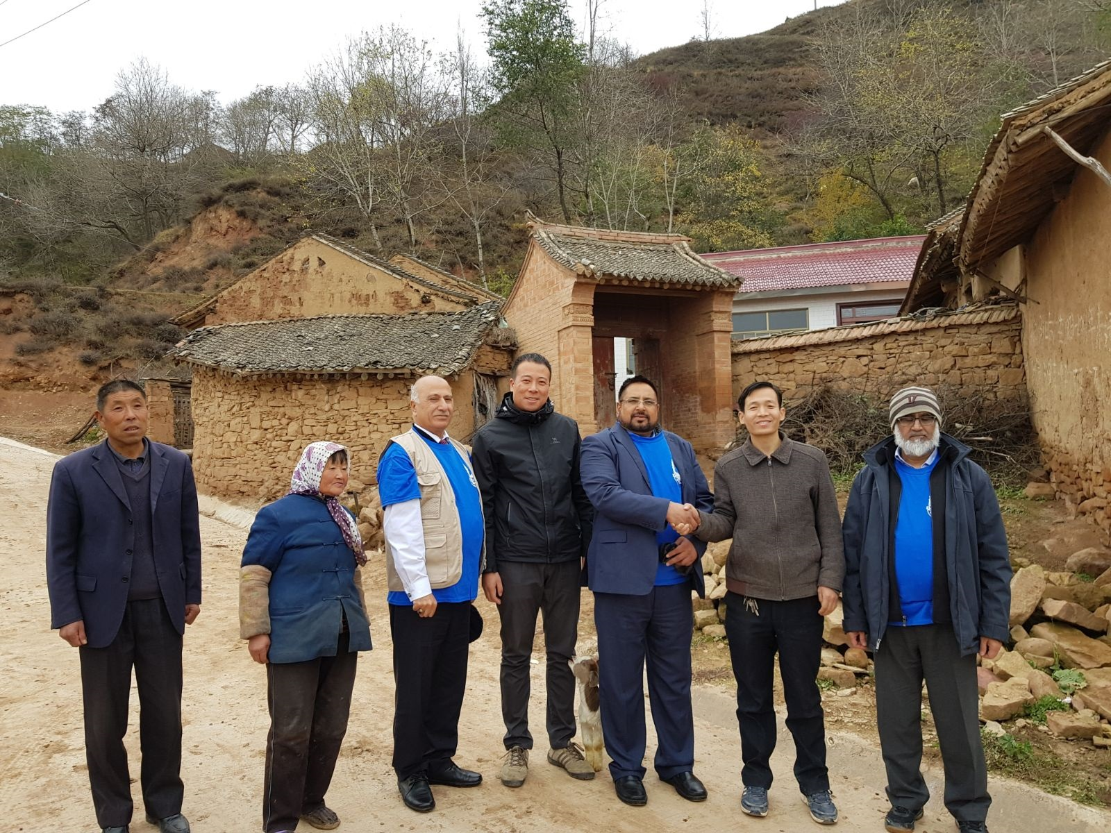 Mr Hafiz Muhammad Shabbir's visit to the Housing Project in China, funded by Zakaat House Kuwait